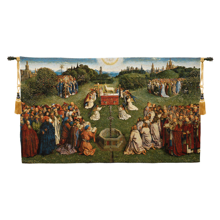 Adoration of the Mystic Lamb European Wallhanging