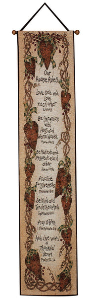 Our House Rules Bell Pull Tapestry Bell Pull