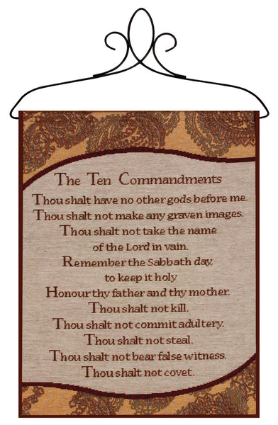 Ten Commandments Bannerette Fine Art Tapestry