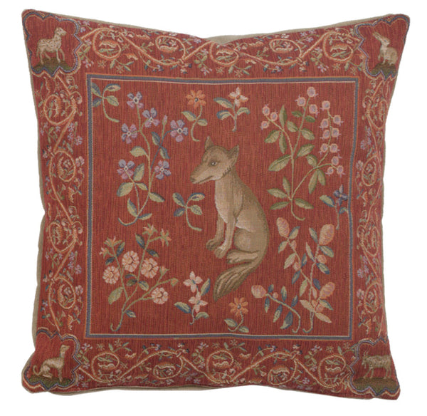 Medieval Fox French Tapestry Cushion