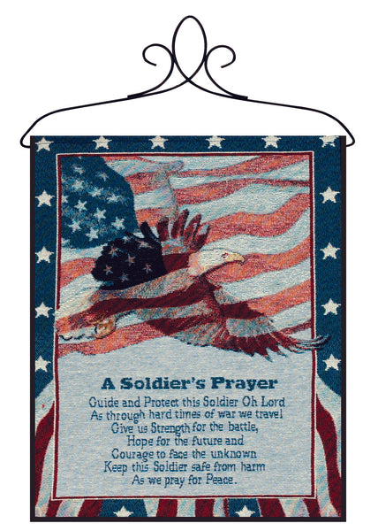 A Soldier's Prayer Bannerette Fine Art Tapestry