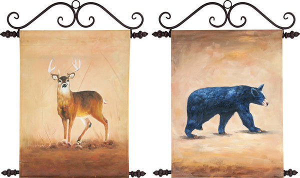 Wildlife Deer/Bear I Canvas Art