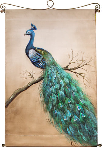 Peacock Bloom Canvas Art
