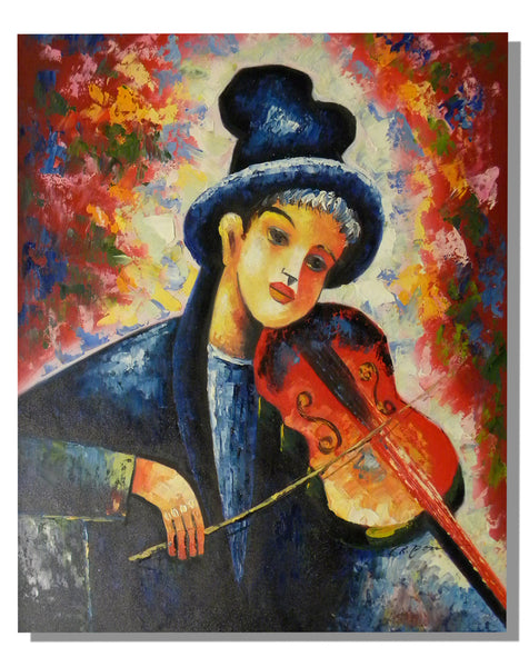 Violin Music Oil Painting