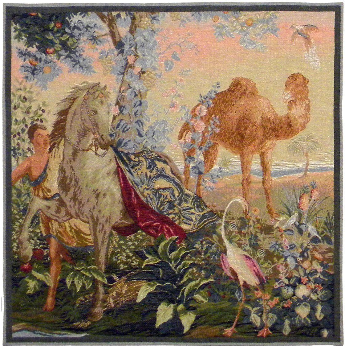 Cheval Drape I French Tapestry Cushion