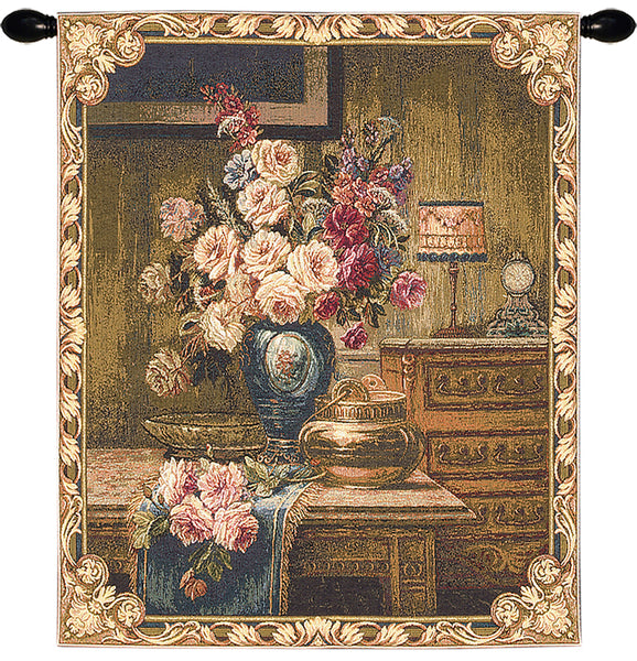 Setting With Roses European Wallhanging