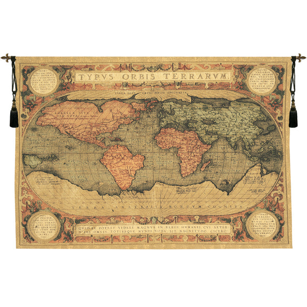 Mappenmonde Map of World European Tapestry
