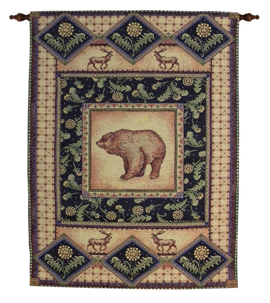 Bear Lodge III Tapestry Wall Art