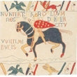 Bayeux Horse I European Cushion Cover