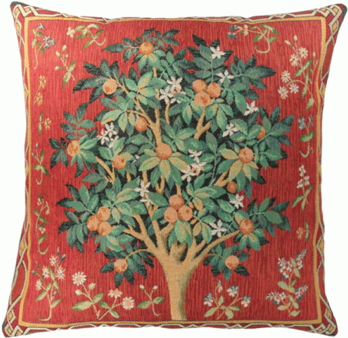 Orange Tree  French Tapestry Cushion