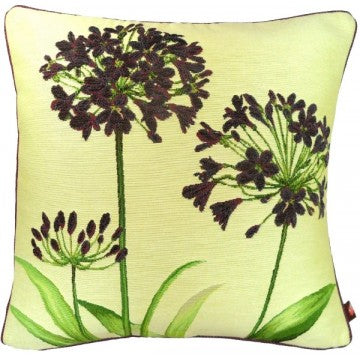 Agapanthus 3 Flowers Yellow French Tapestry Cushion