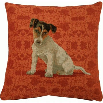Jack Russel Red 1 French Tapestry Cushion