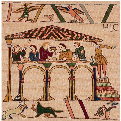 Bayeux Le Repas French Tapestry Cushion