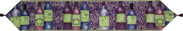 Sanctuary Wine With Tassels Tapestry Table Runner