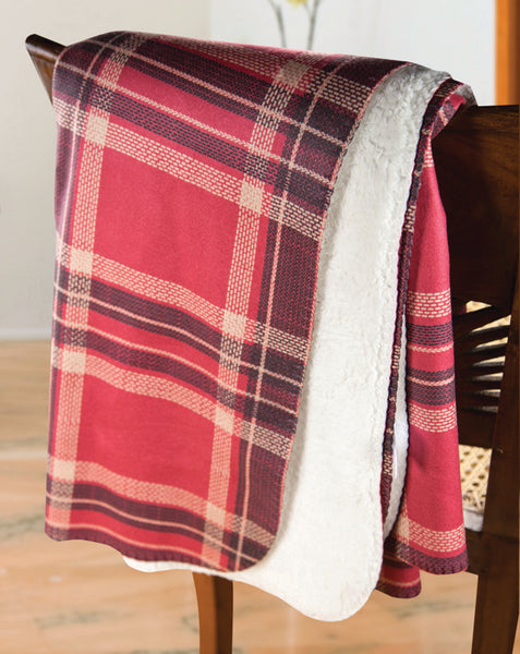 Mad For Plaid Red and Black Tapestry Throw