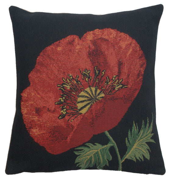Poppy Red I Belgian Cushion Cover