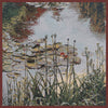 Waterlily Monet's Garden Belgian Tapestry Cushion
