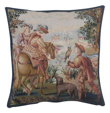 Falcon 1 Belgian Tapestry Cushion
