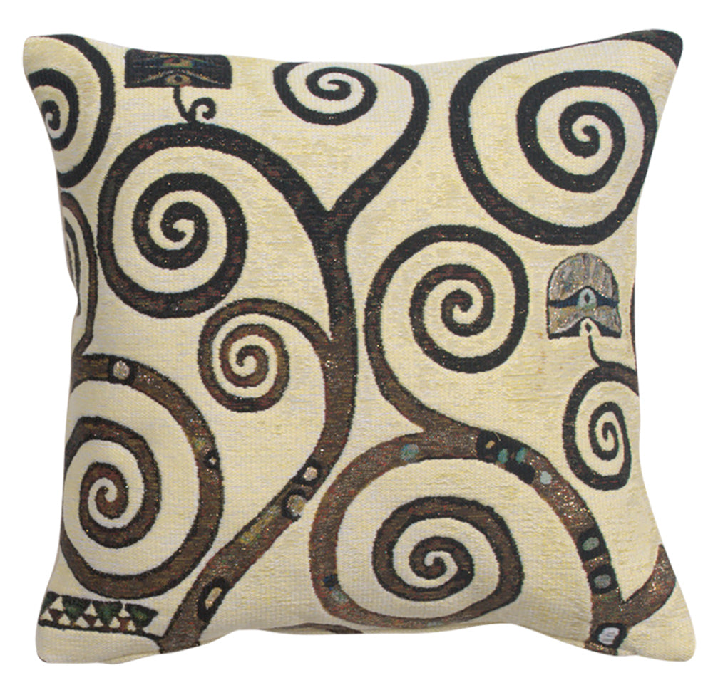 Lebensbaum  Branches Belgian Tapestry Cushion