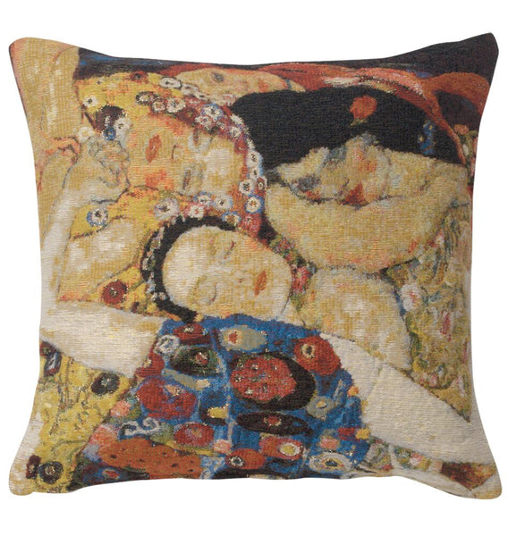 Virgin Faces Belgian Tapestry Cushion
