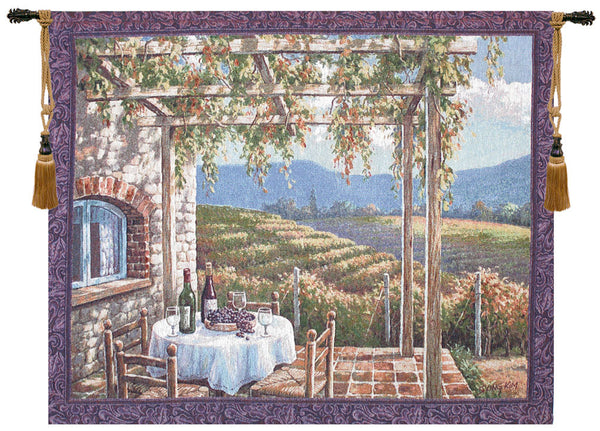 Vineyard Terrace Fine Art Tapestry