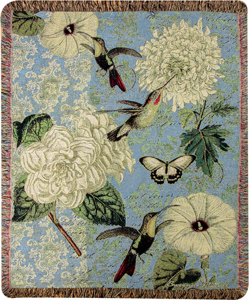 Hummingbird Flutter Tapestry Throw