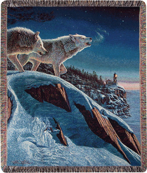 Moonlight Prowlers Tapestry Throw