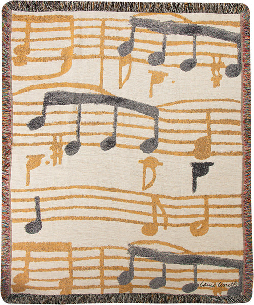 Music Stanzas Tapestry Throw