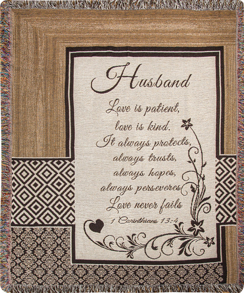 Husband Definition Tapestry Throw