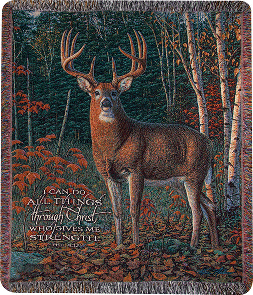 Autumn Sentinel Light Tapestry Throw