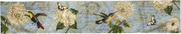 Hummingbird Flutter Runner Tapestry Table Runner