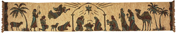 Away in a Manger Runner Tapestry Table Runner