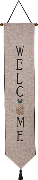 Pineapple Welcome Tapestry Bell Pull
