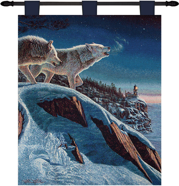 Moonlight Prowlers Tapestry Wallhanging Fine Art Tapestry