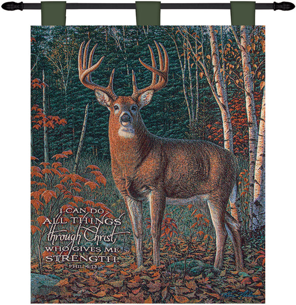 Autumn Sentinel Strength  Tapestry Wall Hanging