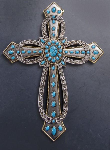 Silver Wall Cross Wall Art