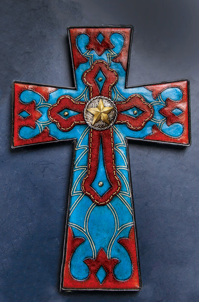 Leather Cutout Wall Cross Wall Art