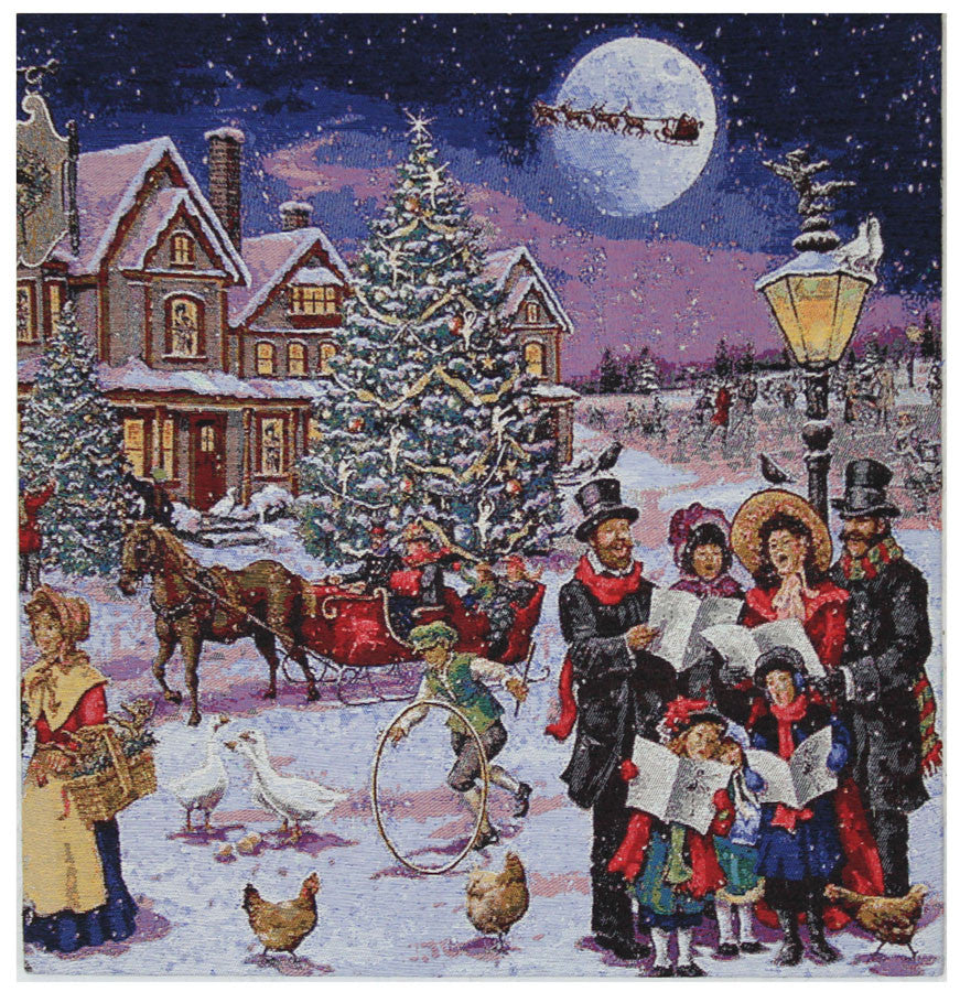 Carolers Stretched Wall Tapestry