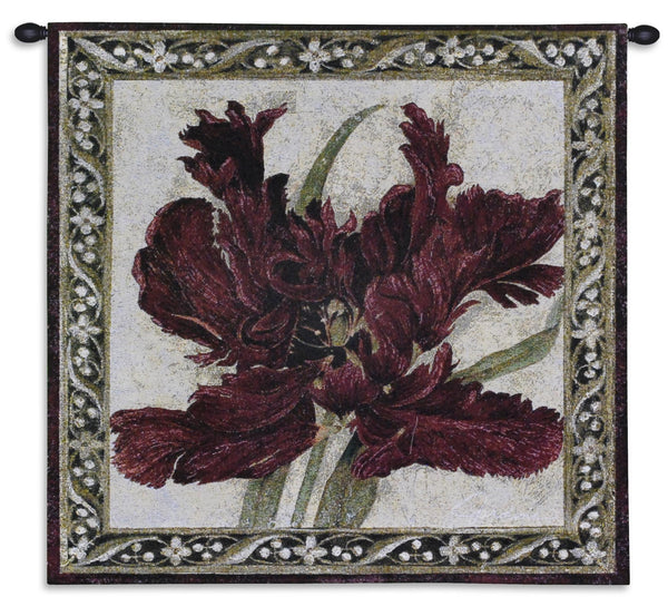 Fire Red Tulip Tapestry Wall Hanging