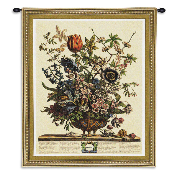Feb Botanical Tapestry Wall Hanging