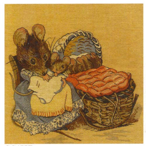 Hunca Munca Beatrix Potter European Cushion Cover