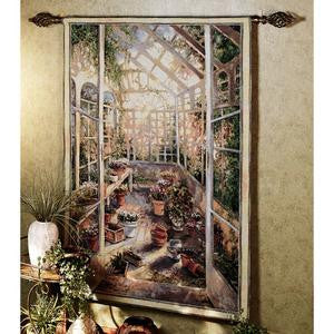 Greenhouse Retreat Tapestry Wall Hanging