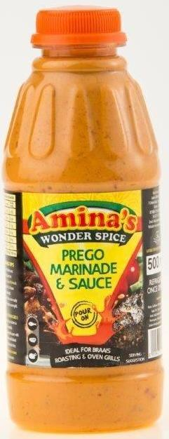 Amina's prego marinade and sauce 500ml