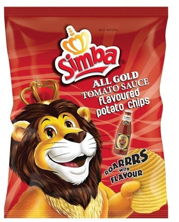 SIMBA ALL GOLD TOMATO CHIPS 125G