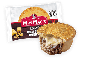 Mrs Mac's Chilli, Beef and Cheese pie
