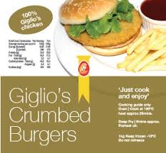 GIGLIO'S CRUMBED BURGERS HANDCUT 1KG