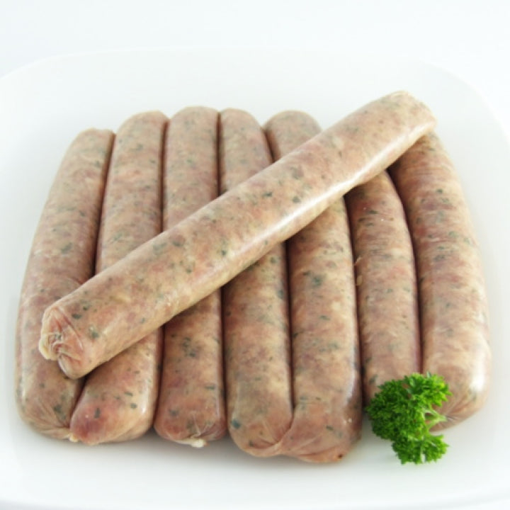 Herb and Garlic Beef Sausages