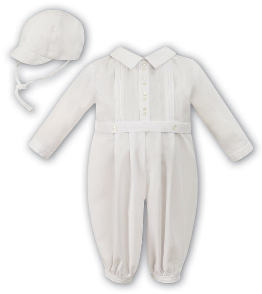 5d72ae41e308 lace up in e8b75 19824 sarah louise boys ivory christening romper ...