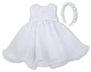 Sarah Louise White Christening Dress & Headband 070054