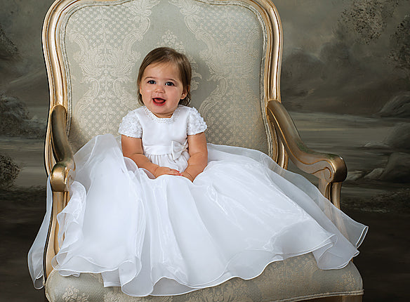 Sarah Louise Ivory Christening Gown 001032